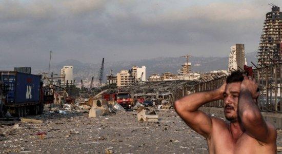 Nas proximidades do distrito portuário, os danos e a destruição são enormes