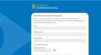 Consulta ao auxílio emergencial via Dataprev