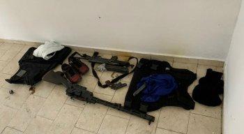 Material apreendido durante a Operação Capitá, deflagrada pela Polícia Federal e Polícia Militar