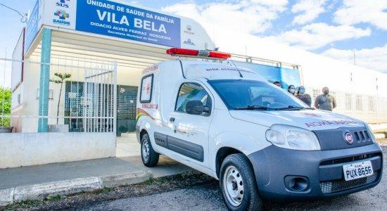 Ambulância do bairro Vila Bela, em Serra Talhada