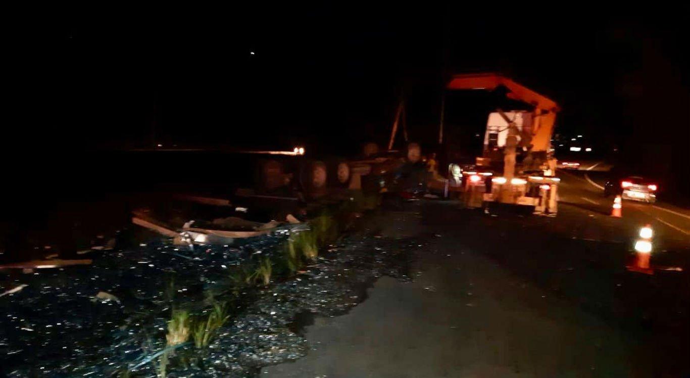 Acidente aconteceu na BR-101, em Palmares