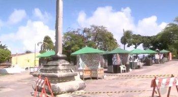 O Cruzeiro do século 18 é um monumento tombado, que fica no Alto da Sé, em Olinda