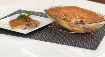 Escondidinho de macaxeira com charque deliciosa, pelo chef Rivandro França