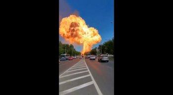 Explosão aconteceu em um posto de gasolina