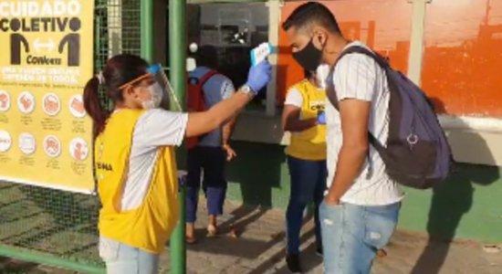 Cinco terminais integrados do Grande Recife recebem ação de conscientização e combate ao coronavírus