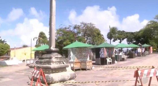 Homem é preso suspeito de danificar monumento tombado no Alto da Sé, em Olinda