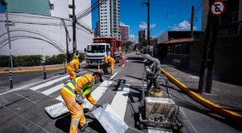 Obras estão sendo realizadas no bairro do Rosarinho, Zona Norte do Recife, nesta sexta-feira (14)