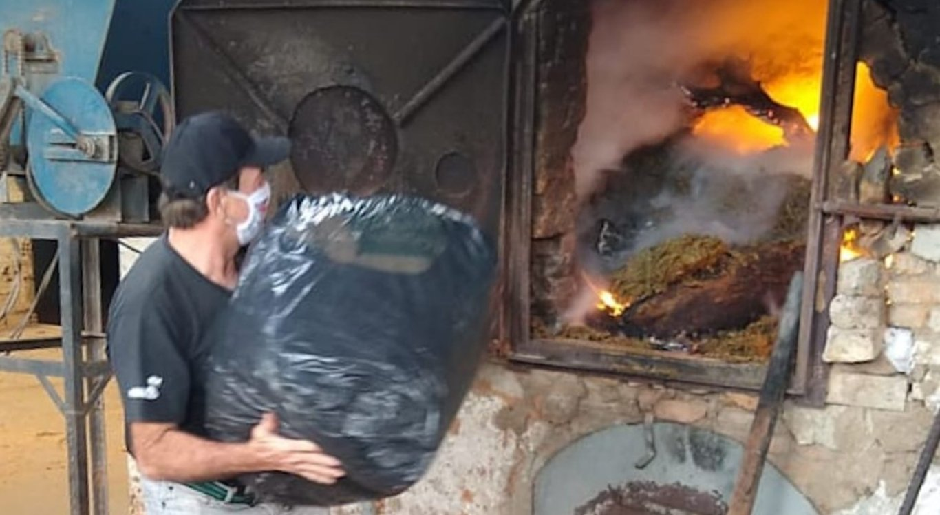 Polícia incinerou a droga