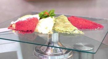 Tapioca colorida é a receita especial do chef Rivandro França
