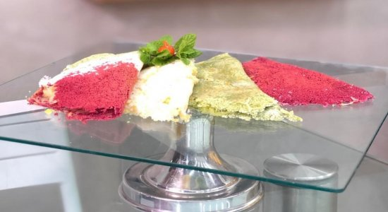 Receita de Tapioca Colorida com o chef Rivandro França, do Sabor da Gente