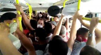 Telespectador registrou a aglomeração em BRT e mandou o vídeo para a produção do Por Dentro com Cardinot
