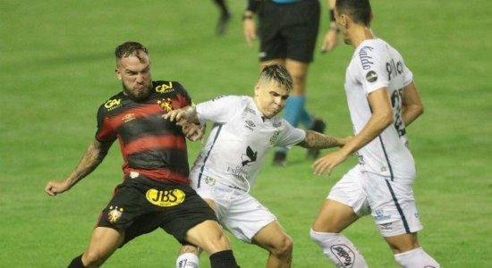 Sport perde para o Santos e soma três jogos sem vitórias