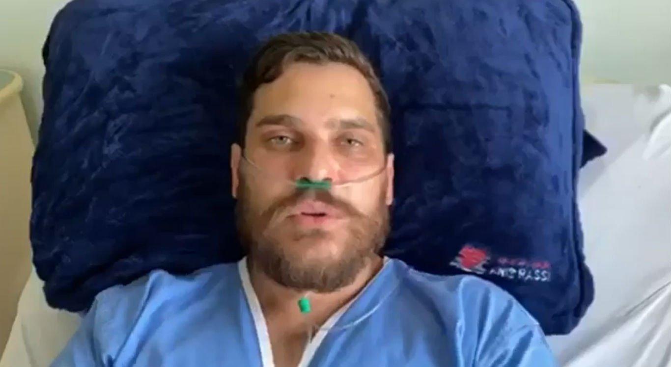 Cantor Cauan deixa a UTI após ter 75% dos pulmões comprometidos pela covid-19