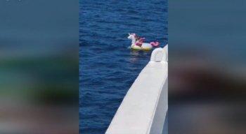 A criança foi resgatada e passa bem