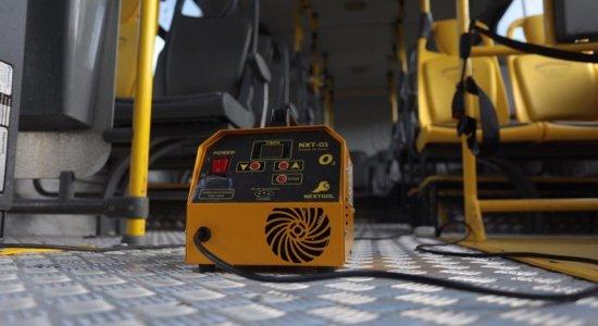 Ônibus da Região Metropolitana do Recife adotam novo equipamento para ajudar na luta contra a covid-19