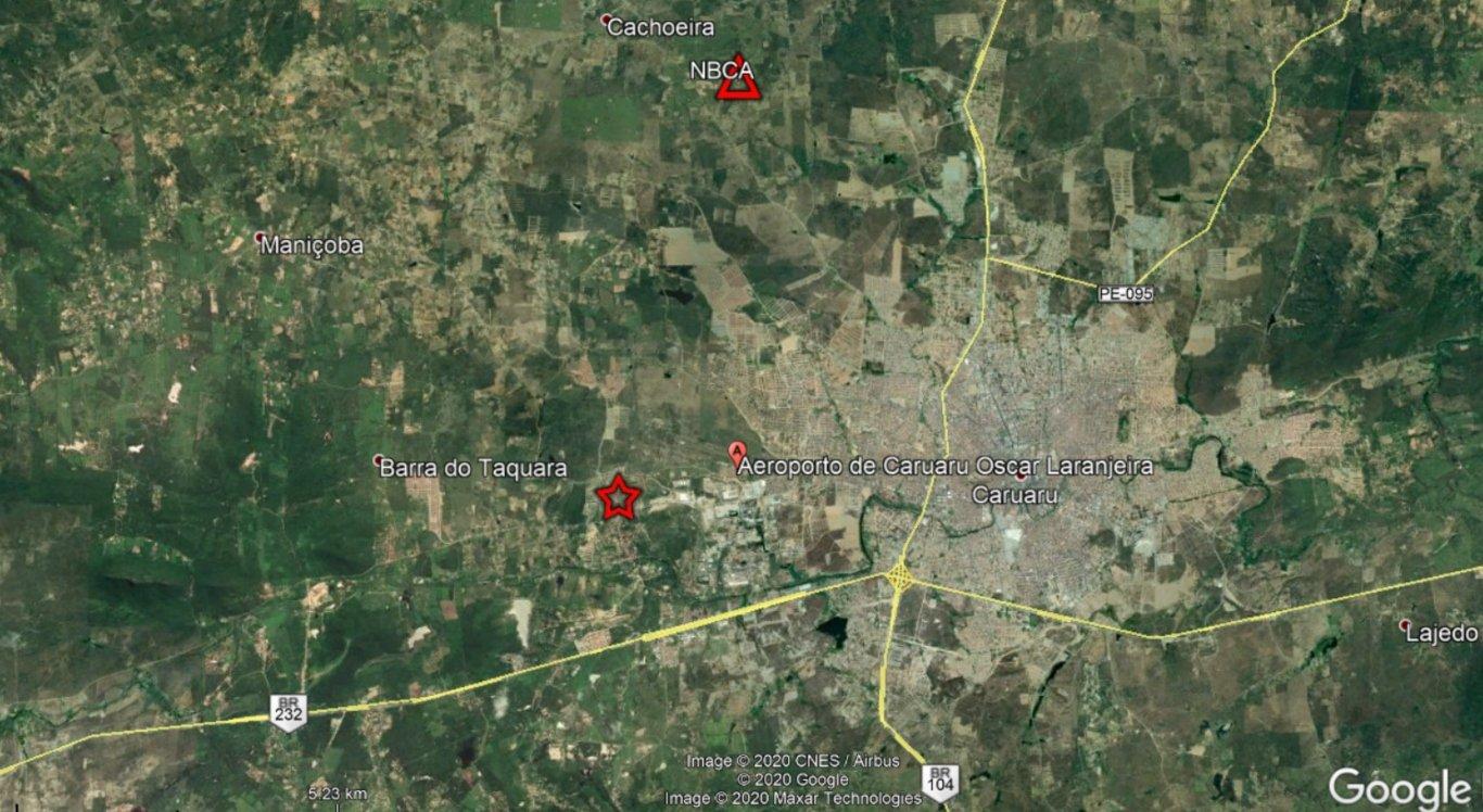 Dois tremores de terra foram registrados em Caruaru