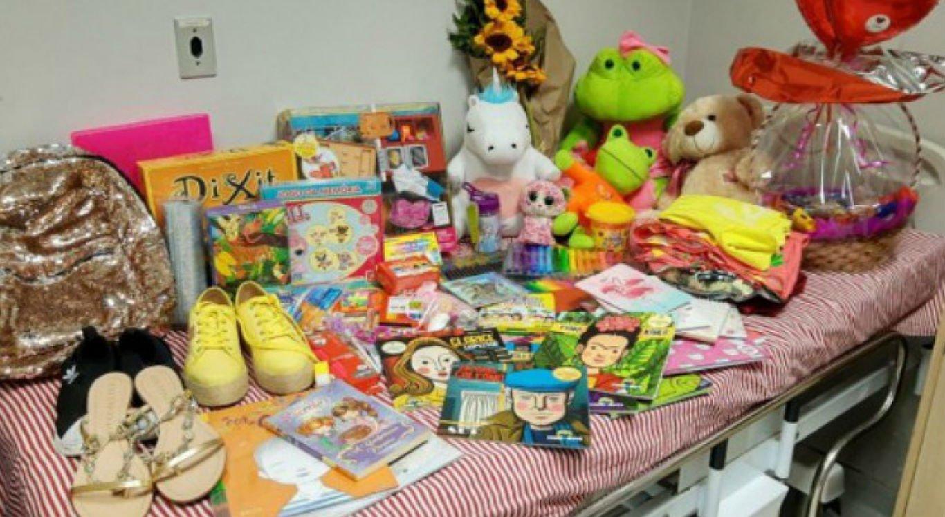 No Recife, criança ganhou vários presentes