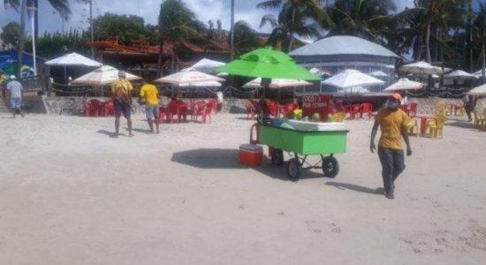 Comércio de praia reabre nesta segunda em PE