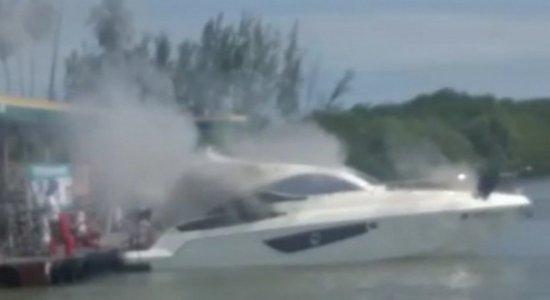 Capitania dos Portos apura causa de explosão em lancha que deixou 5 feridos em Maria Farinha