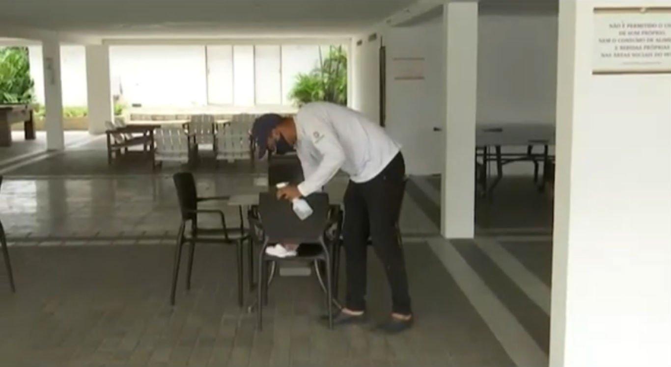Higienização dos ambientes em hotel de Gravatá