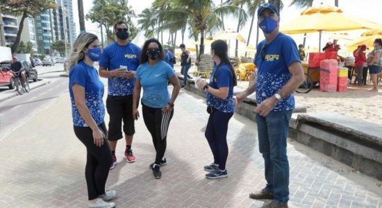 Feriadão: fiscalização do comércio de areia é intensificada na praia de Boa Viagem