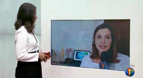 Anne Barretto, que será mãe pela segunda vez, se emociona com homenagem no TV Jornal Meio-Dia