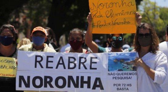 Manifestantes pedem reabertura total de Fernando de Noronha; governo vai avaliar solicitações