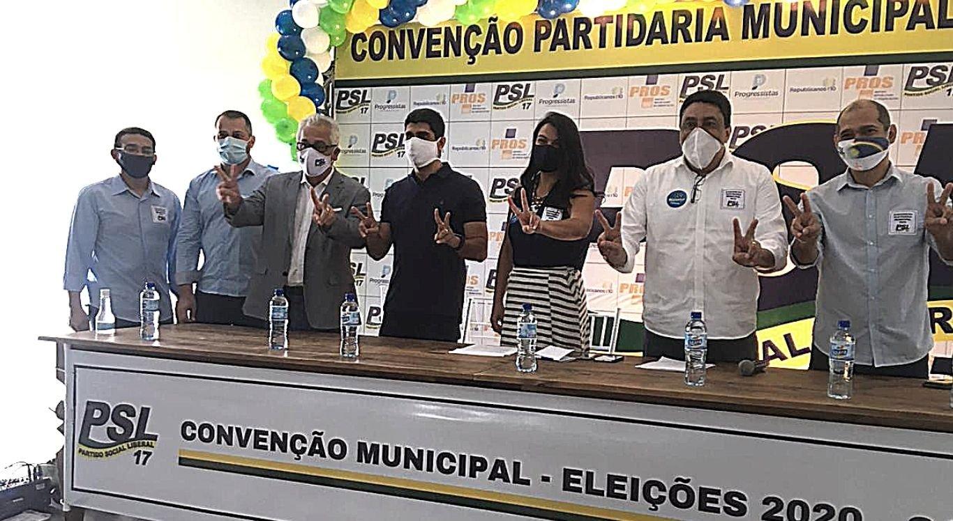 Na data ocorreu a indicação oficial de Manoel Santos como candidato a vice-prefeito de Erick Lessa