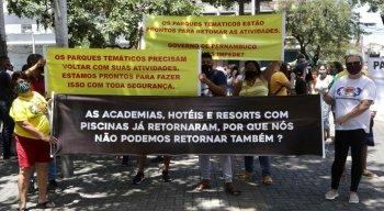 Parque aquático Protesto Liberação