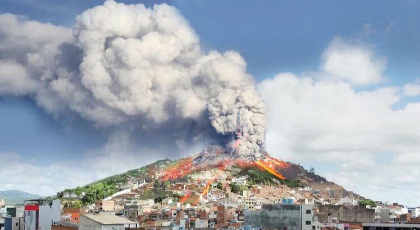 Memes mostram Monte Bom Jesus como vulcão entrando em erupção