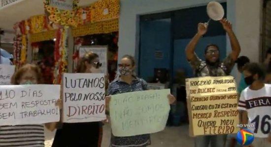 Trabalhadores informais do Recife fazem novo protesto nesta quinta (10)