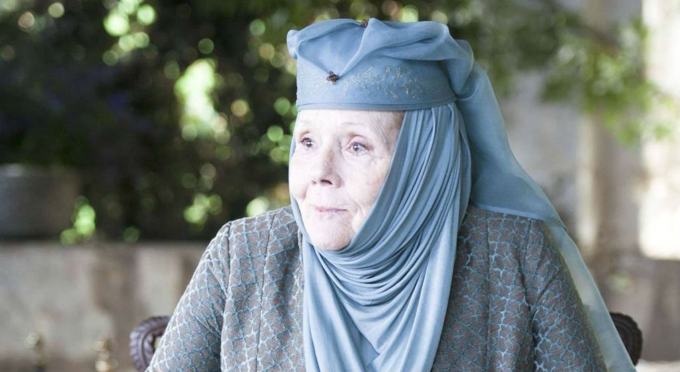 Atriz Diana Rigg na série Game of Thrones