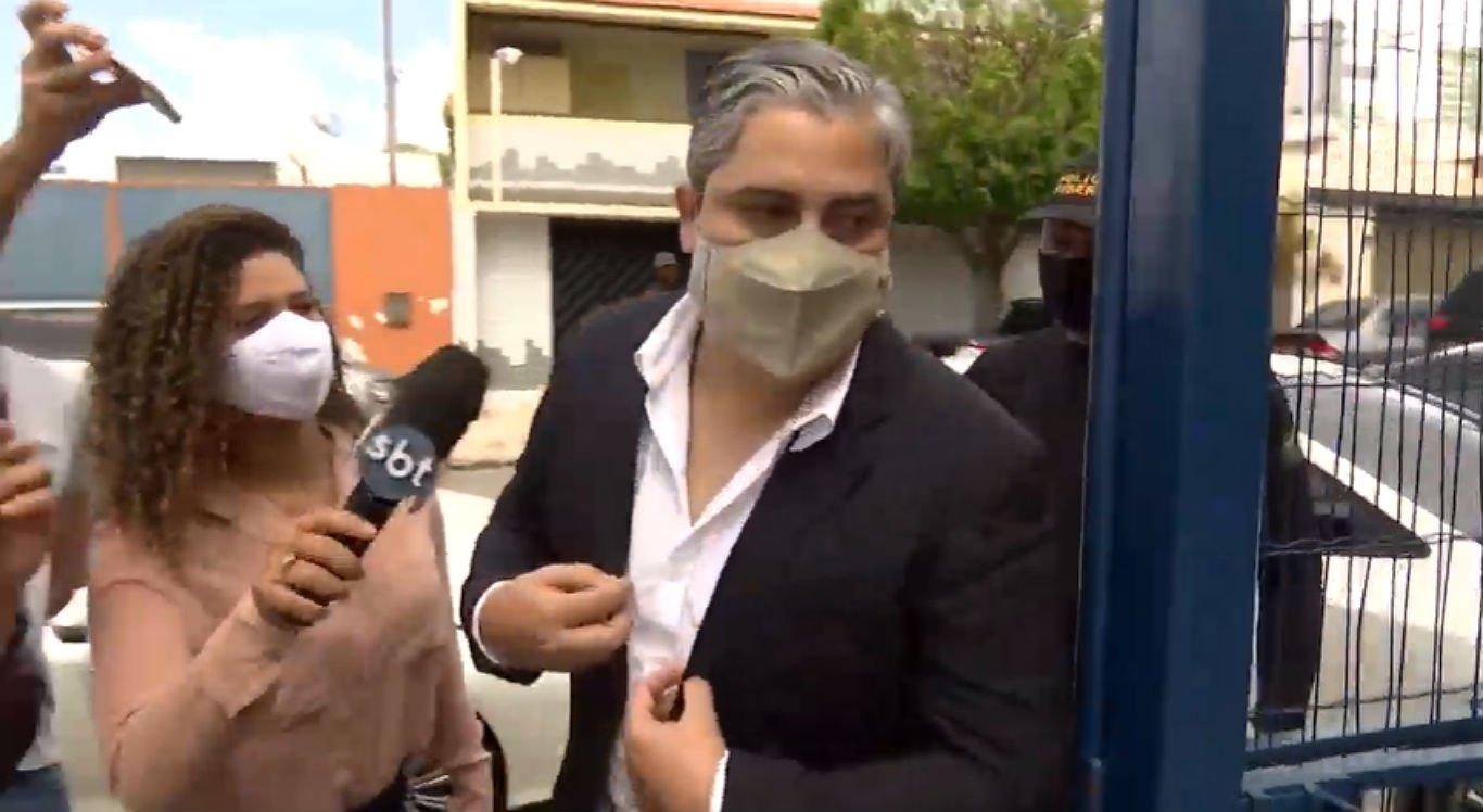 Prefeito de Agrestina, Thiago Nunes, não quis falar com a imprensa