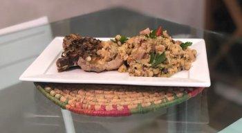 Baião de Dois com Bisteca de Porco do chef Rivandro França