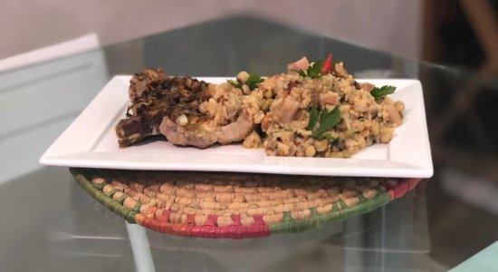 Baião de Dois com Bisteca de Porco: receita do chef Rivandro França, do Sabor da Gente