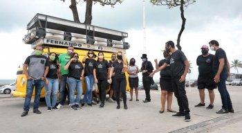 Categoria se reuniu na Orla da Praia de Boa Viagem, na Zona Sul do Recife