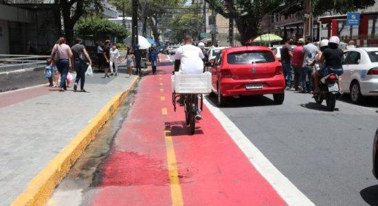 Ciclistas ganham novo trecho de ciclofaixa na área central do Recife