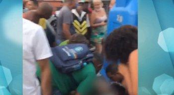 O disparo feriu uma das pernas do estudante
