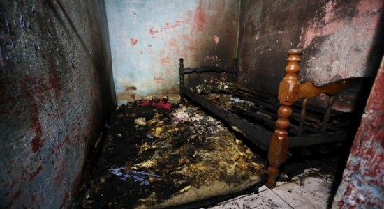 Incêndio, no Recife, causa a morte de uma criança de 2 anos e deixa outra com 90% do corpo queimado