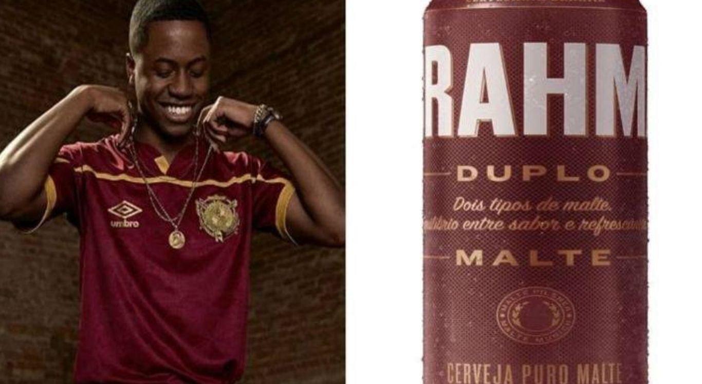 Uma arte acabou viralizando comparando o terceiro uniforme do rubro-negro com o rótulo de uma cerveja bastante conhecida no país
