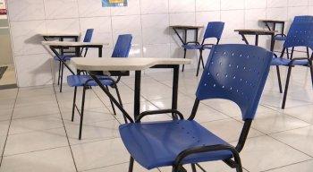 As aulas presenciais só foram liberadas para alunos do Ensino Médio