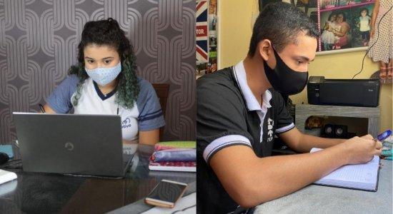 Estudantes se preparam para volta às aulas presenciais em Pernambuco