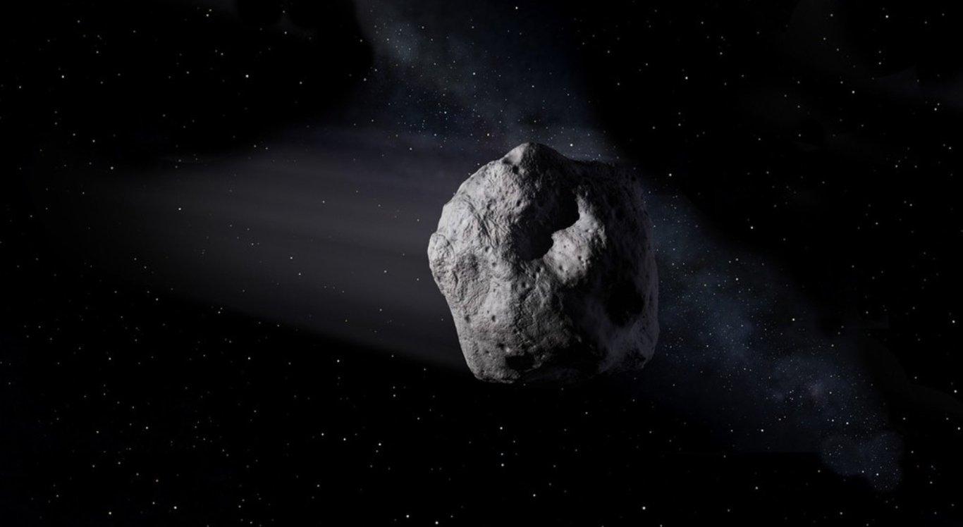 Ilustração mostra o asteroide no espaço