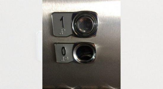Recém inaugurado, elevador da Estação Joana Bezerra, no Recife, é alvo de vandalismo