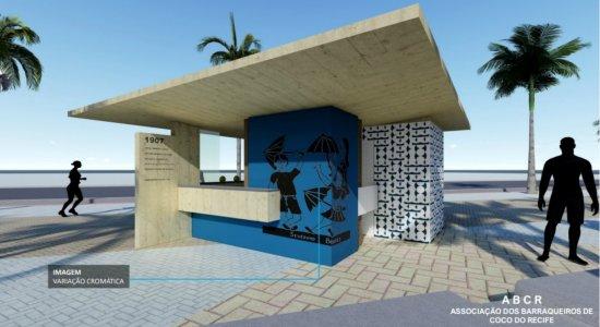 Veja como ficarão os novos 60 quiosques da praia de Boa Viagem, no Recife