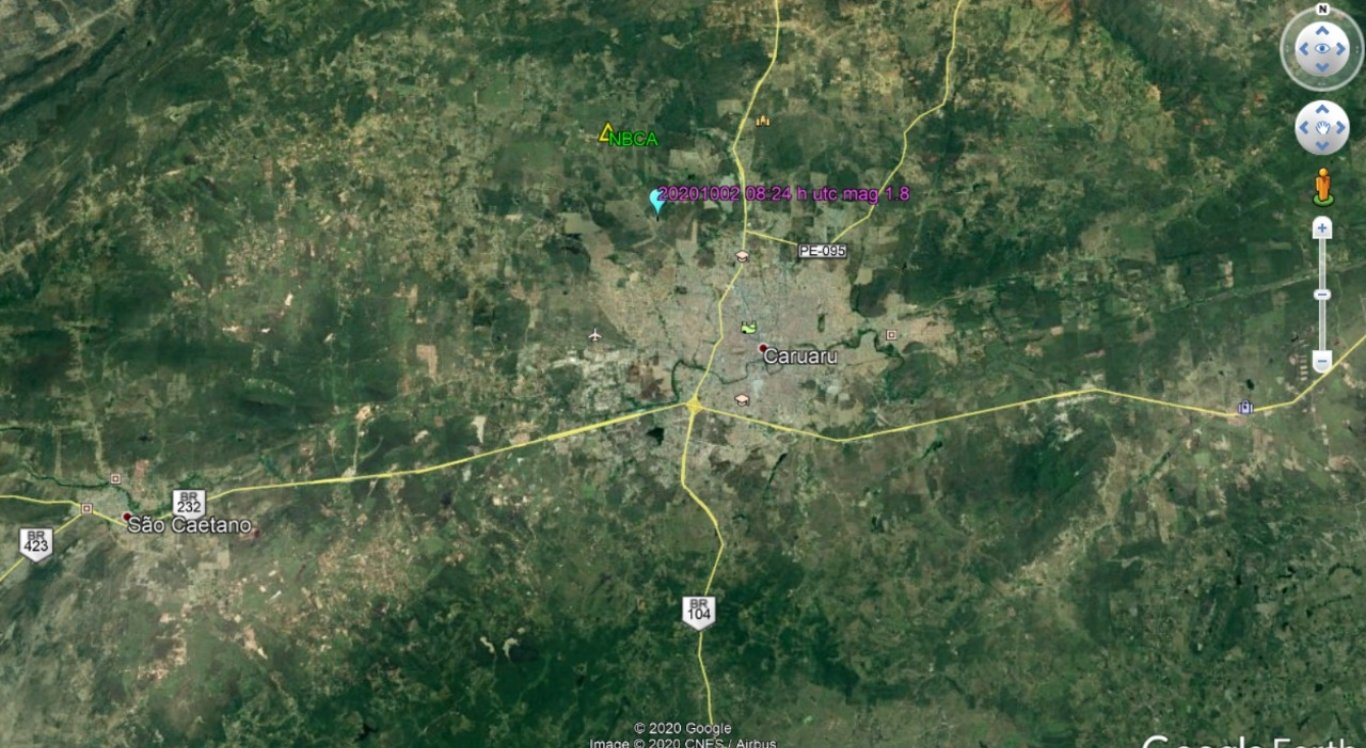 Mais um tremor registrado em Caruaru