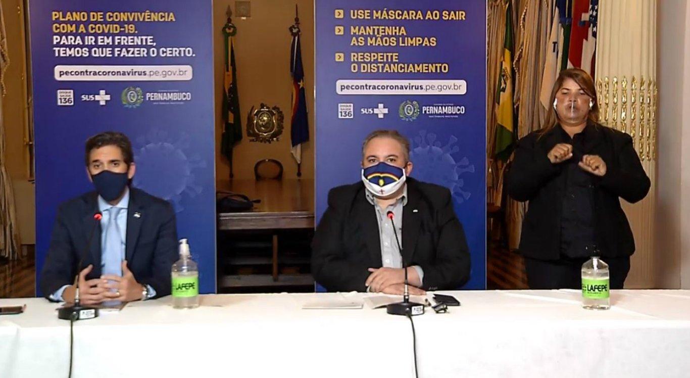 Coletiva online do Governo de Pernambuco