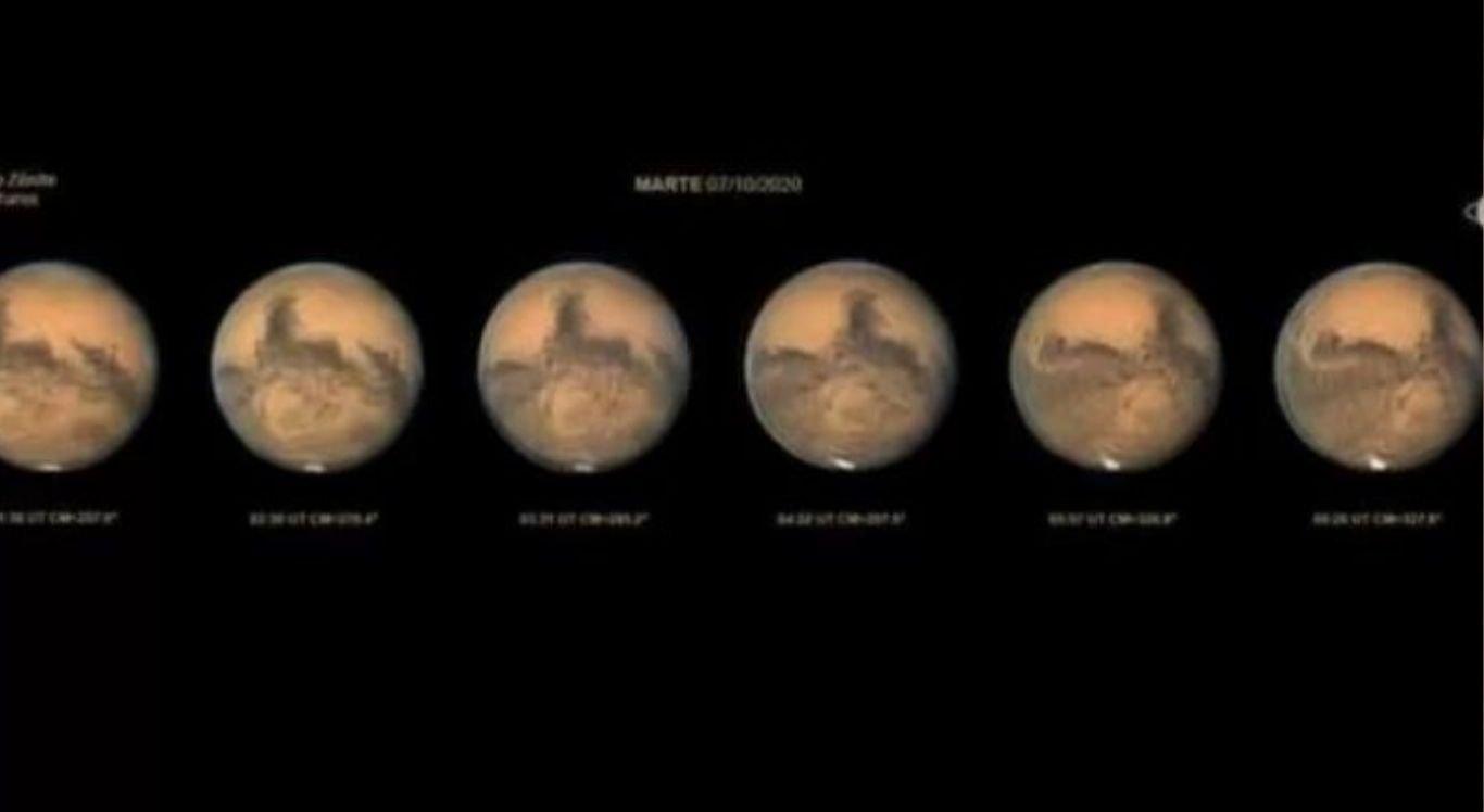 A distância entre o planeta vermelho e a Terra no início desta semana foi a menor prevista para os próximos 14 anos