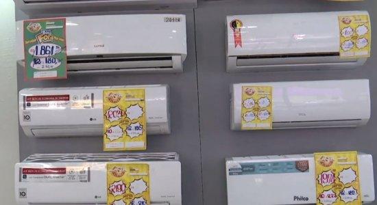 Produtos como ar-condicionado, ventilador e climatizador têm sido bastante demandados no comércio local