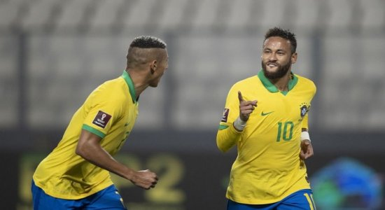 Neymar marca três vezes e seleção vence Peru nas Eliminatórias da Copa